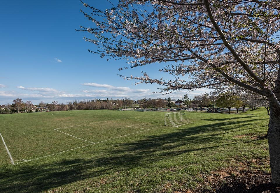 Soccer field in Finksburg, MD